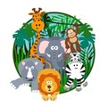 Cute Safari Cartoon Royalty Free Stock Photos