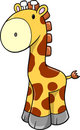 Cute Safari Giraffe Vector Royalty Free Stock Photo