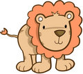 Cute Safari Lion Royalty Free Stock Image