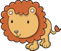 Cute Safari Lion Vector Royalty Free Stock Photo