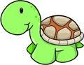 Cute Safari Turtle Vector Royalty Free Stock Photo