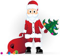 Cute Santa Claus on a white background Royalty Free Stock Photos