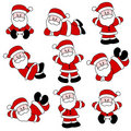 Cute Santa Set Royalty Free Stock Photos