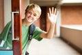 Cute school boy Stock Photo