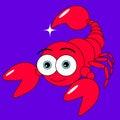 Cute Scorpion Stock Photography