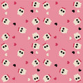 Cute scull pattern Royalty Free Stock Images