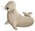Cute sea lion acrylic illustration of Stock Photography