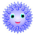 Cute sea urchin vector smiling spiky animal cartoon character isolated on white background ocean animal funny sea life theme crea Stock Photography
