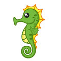 Cute seahorse isolated illustration on white background Royalty Free Stock Image