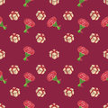 Cute seamless background patterns with flowers and gift boxes