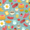 Cute Seamless Pattern With Bre...