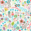 Cute seamless pattern with flowers Royalty Free Stock Photo