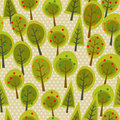 Cute seamless pattern forest Royalty Free Stock Photography