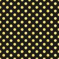 Cute seamless pattern of golden glitter polka dots