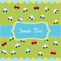Cute seamless pattern with little cars Stock Images