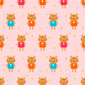 Cute seamless pattern with little tigers. Children background. Funny animals
