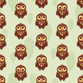 Cute seamless pattern with owl Royalty Free Stock Photos