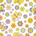 Cute seamless pattern with spring Royalty Free Stock Photo