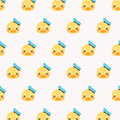 Cute seamless pattern with yellow rubber duck.