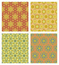 Cute seamless patterns Stock Photography