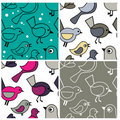 Cute seamless patterns Royalty Free Stock Photos