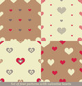 Cute seamless patterns for valentine s day design this is file of eps format Royalty Free Stock Photos