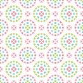 Cute seamless retro pastel heart background circles