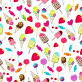 Cute seamless retro candies background Stock Photography