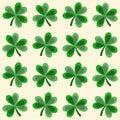 Cute seamless shamrock clover pattern illustration background Royalty Free Stock Photo
