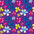 Cute seamless texture with flowers on a violet background
