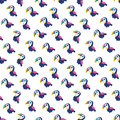 Cute seamless vector background toucans pink navy