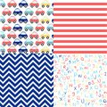 Cute set of Baby Boy seamless patterns
