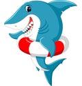 Cute shark cartoon Royalty Free Stock Photo