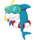 Cute shark cartoon Royalty Free Stock Photo