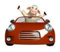 Cute Sheep Cartoon Character W...