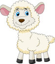 Cute sheep cartoon illustration of Stock Image