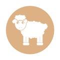 Cute sheep drawing character