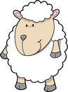 Cute sheep Vector Stock Image