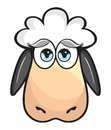 Cute sheep vector illustration of the Royalty Free Stock Photo