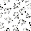 Cute sheeps over white background Royalty Free Stock Images