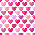 Cute shiny seamless heart pattern  on white background Royalty Free Stock Photo