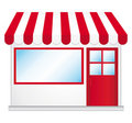 Cute shop icon Stock Images