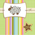 Cute shower card with sheep Royalty Free Stock Photo