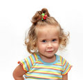 Cute simling girl portrait Stock Photos