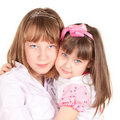Cute Sisters Stock Photography