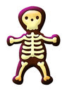 Cute skeleton isolated on white easy edit Stock Photos
