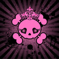 Cute Skull with crown Royalty Free Stock Photos