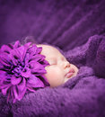 Cute sleepy baby girl Royalty Free Stock Photo