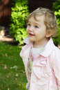 Cute smile infant image of the beautiful smiling girl Stock Image