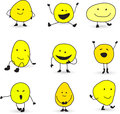 Cute smiley face characters Stock Photography